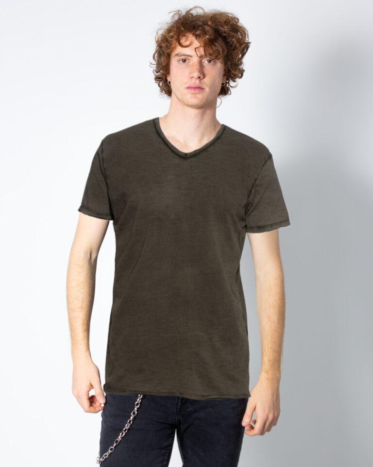 T-shirt Brian Brome TINTA UNITA COLLO V Verde Oliva - Foto 1