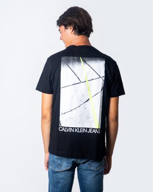 T-shirt Calvin Klein Jeans Skater Photo Neon Tee Nero - Foto 2