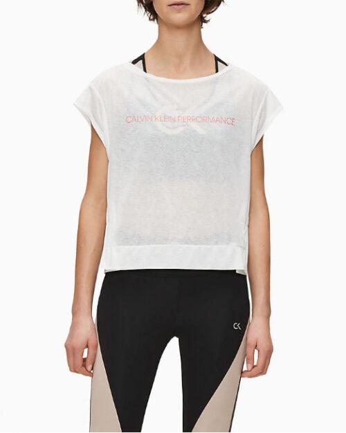 T-shirt Calvin Klein Performance Cropped Short Sleeve Bianco – 44217