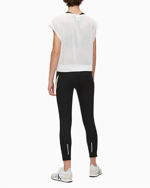 T-shirt Calvin Klein Performance Cropped Short Sleeve Bianco - Foto 3