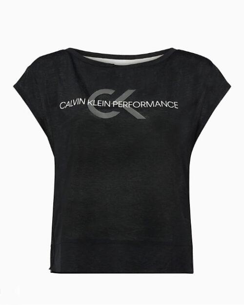 T-shirt Calvin Klein Performance Cropped Short Sleeve Nero – 44217