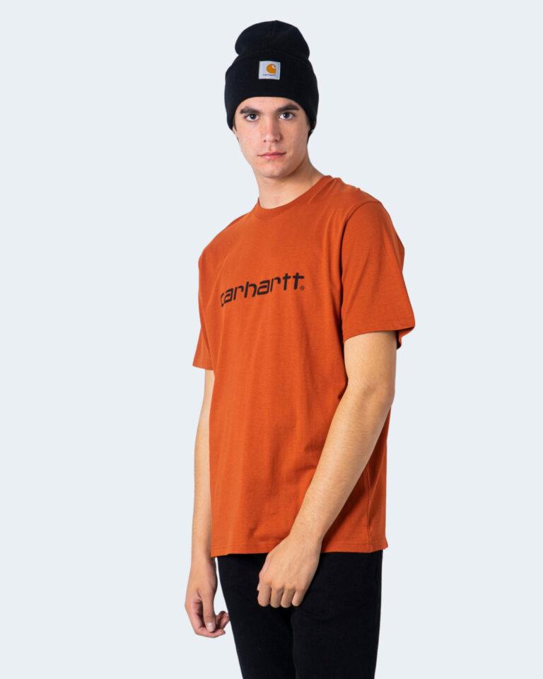 T-shirt Carhartt WIP KOSZULKA SCRIPT Arancione - Foto 1