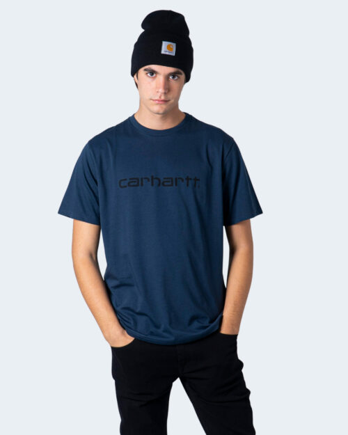 T-shirt Carhartt WIP KOSZULKA SCRIPT Blue scuro - Foto 1