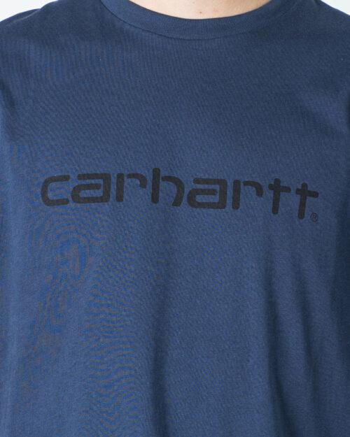 T-shirt Carhartt WIP KOSZULKA SCRIPT Blue scuro - Foto 3