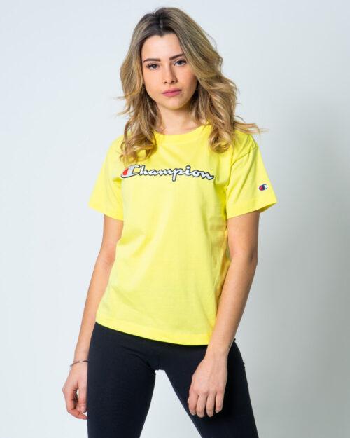 T-shirt Champion Girocollo logo color Giallo – 42541