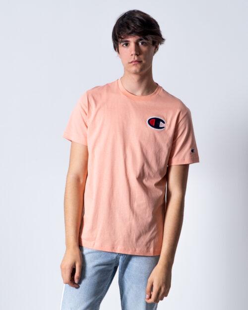 T-shirt Champion Girocollo C logo Satin color Rosa – 42545