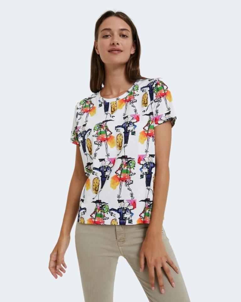 T-shirt Desigual Ts berlin Bianco - Foto 1