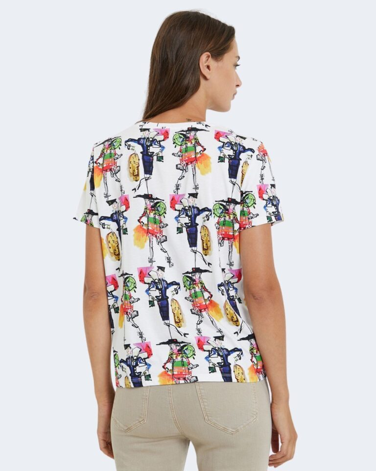 T-shirt Desigual Ts berlin Bianco - Foto 3
