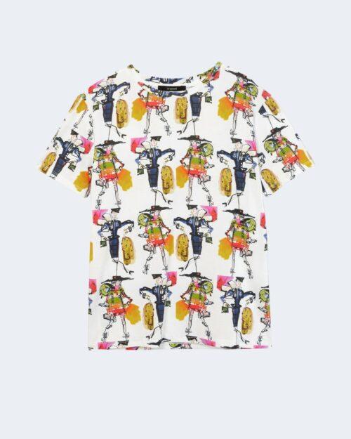T-shirt Desigual Ts berlin Bianco - Foto 4