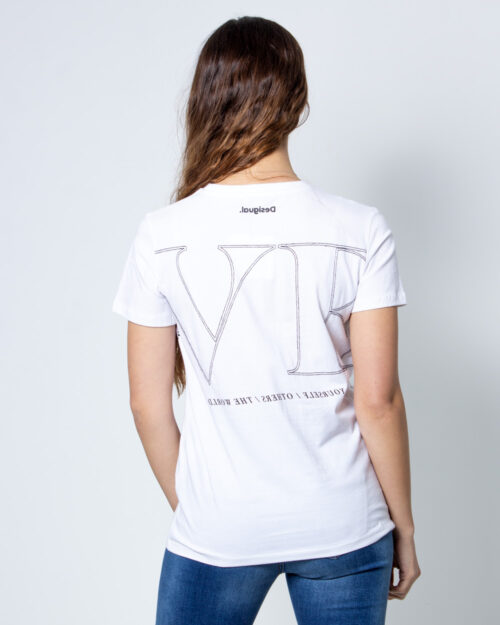 T-shirt Desigual Ts Paris Bianco - Foto 2
