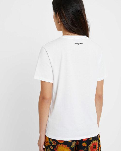 T-shirt Desigual Ts Viena Bianco - Foto 2