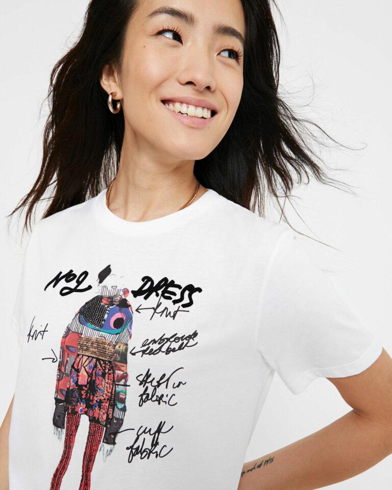 T-shirt Desigual Ts Viena Bianco - Foto 3