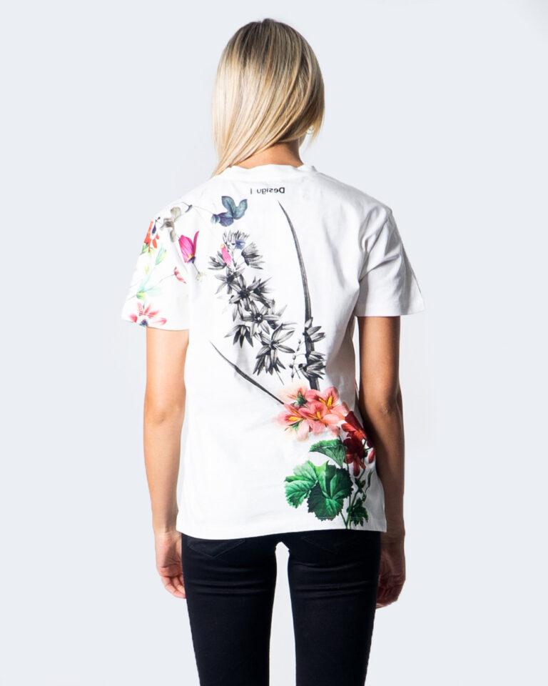 T-shirt Desigual TS YAIZA Bianco - Foto 3