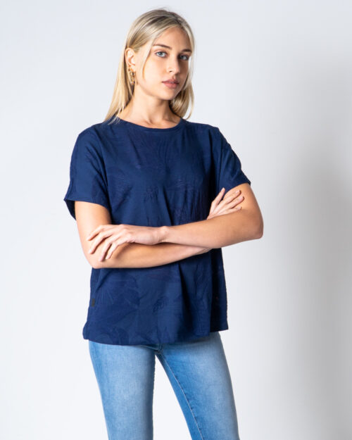 T-shirt Desigual T-SHIRT OVERSIZE DEVORE Blu - Foto 1