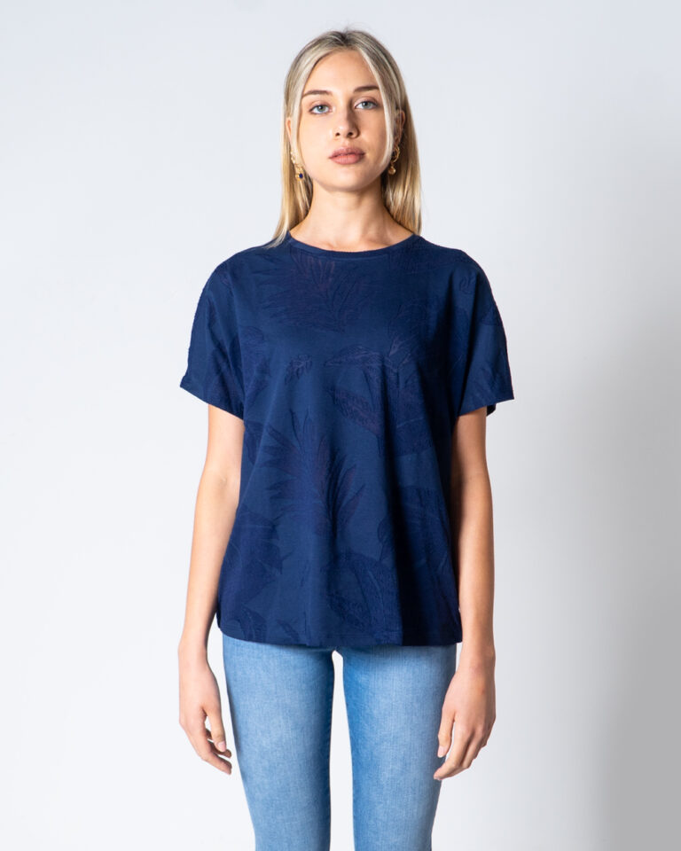 T-shirt Desigual T-SHIRT OVERSIZE DEVORE Blu - Foto 2