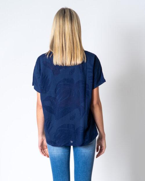 T-shirt Desigual T-SHIRT OVERSIZE DEVORE Blu - Foto 3
