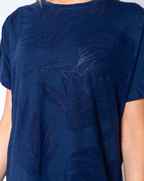 T-shirt Desigual T-SHIRT OVERSIZE DEVORE Blu - Foto 4