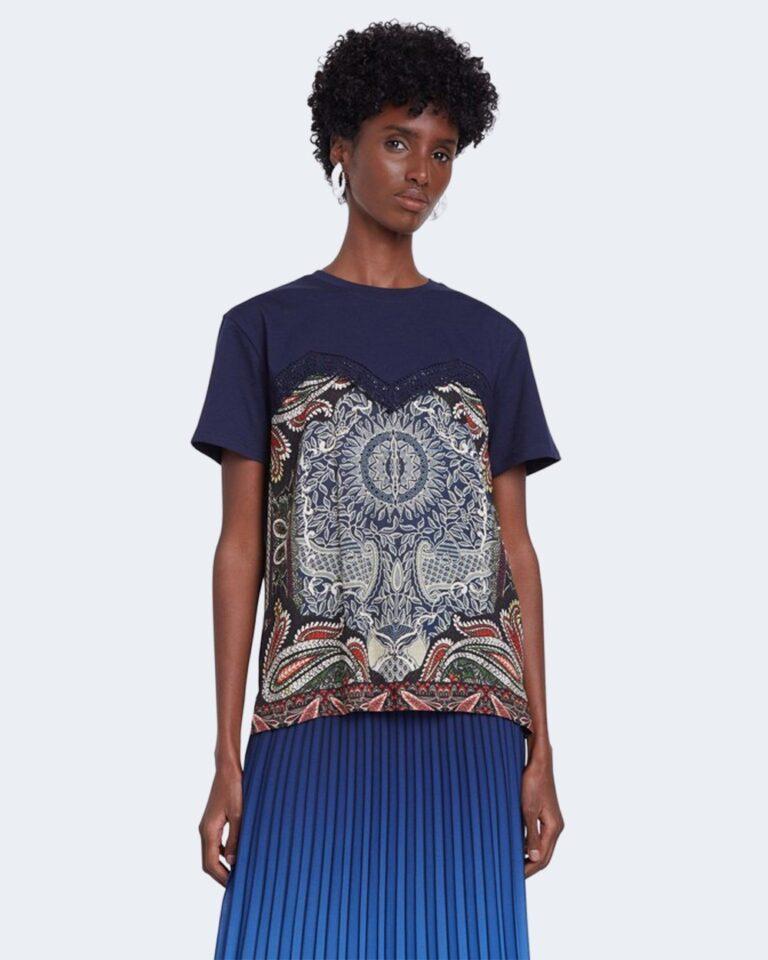 T-shirt Desigual TS MAINE Blu - Foto 1