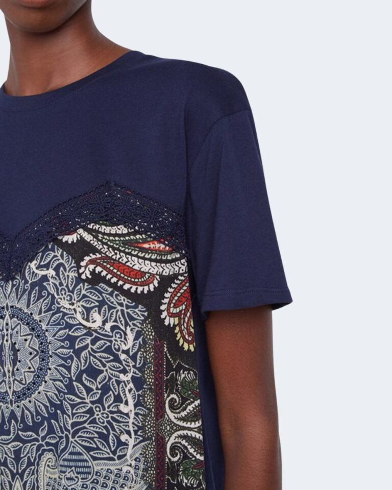 T-shirt Desigual TS MAINE Blu - Foto 2