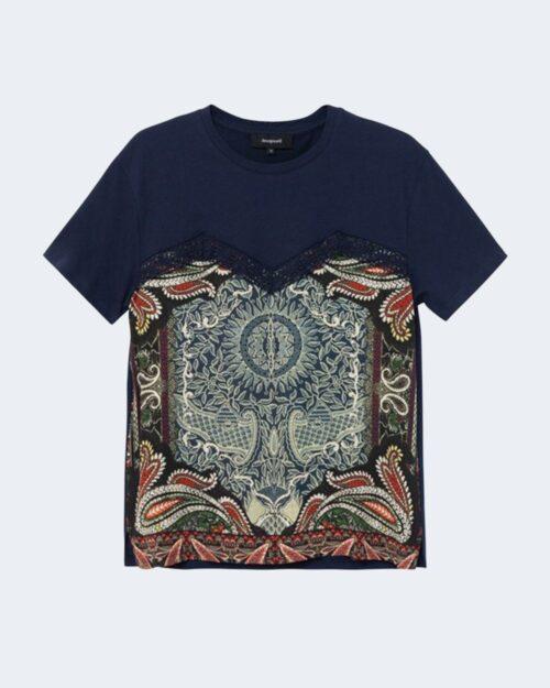 T-shirt Desigual TS MAINE Blu - Foto 4