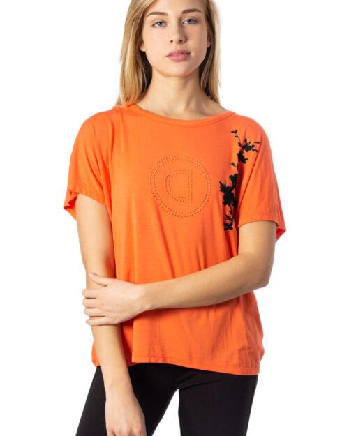 T-shirt Desigual TEE BACK PLEATS GARDENS Corallo – 39402