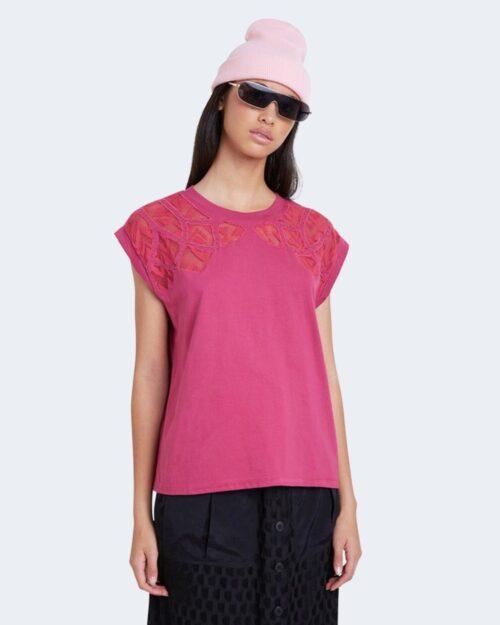 T-shirt Desigual TS LISBOA Fuxia - Foto 1