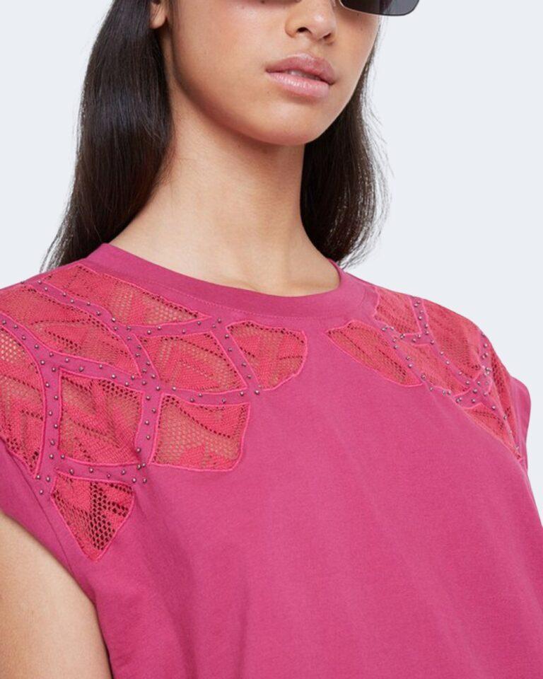 T-shirt Desigual TS LISBOA Fuxia - Foto 2