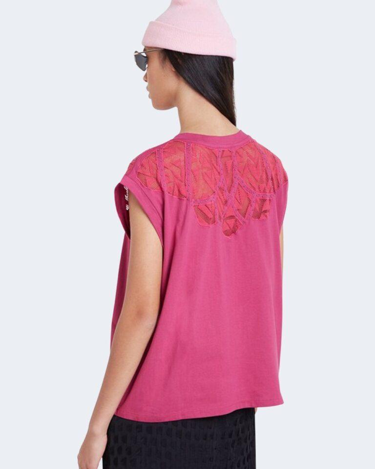 T-shirt Desigual TS LISBOA Fuxia - Foto 3