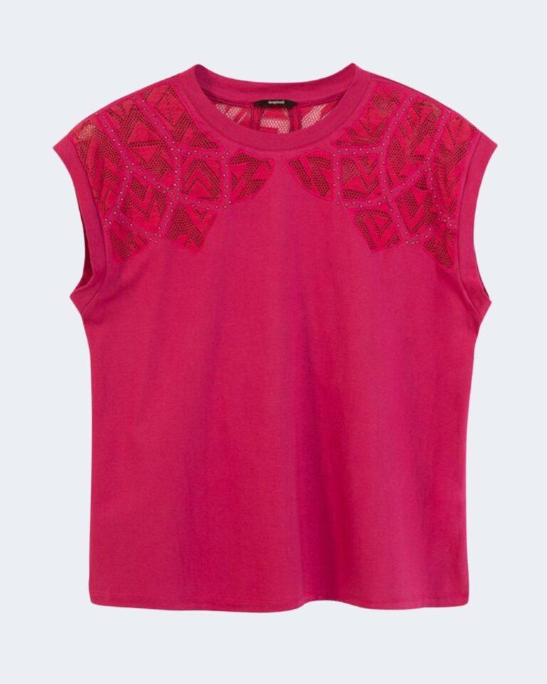 T-shirt Desigual TS LISBOA Fuxia - Foto 4