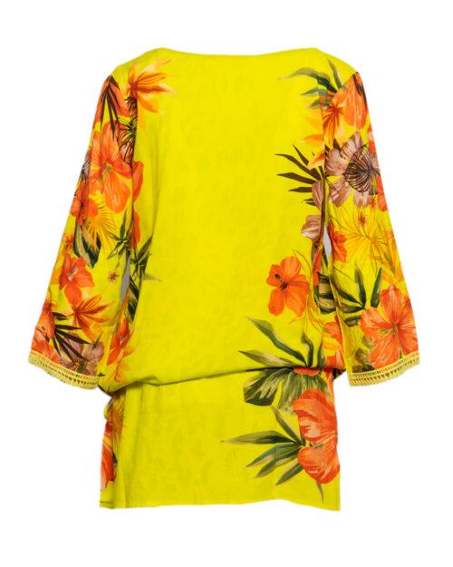 Vestito corto Desigual corcega Giallo lime – 44663