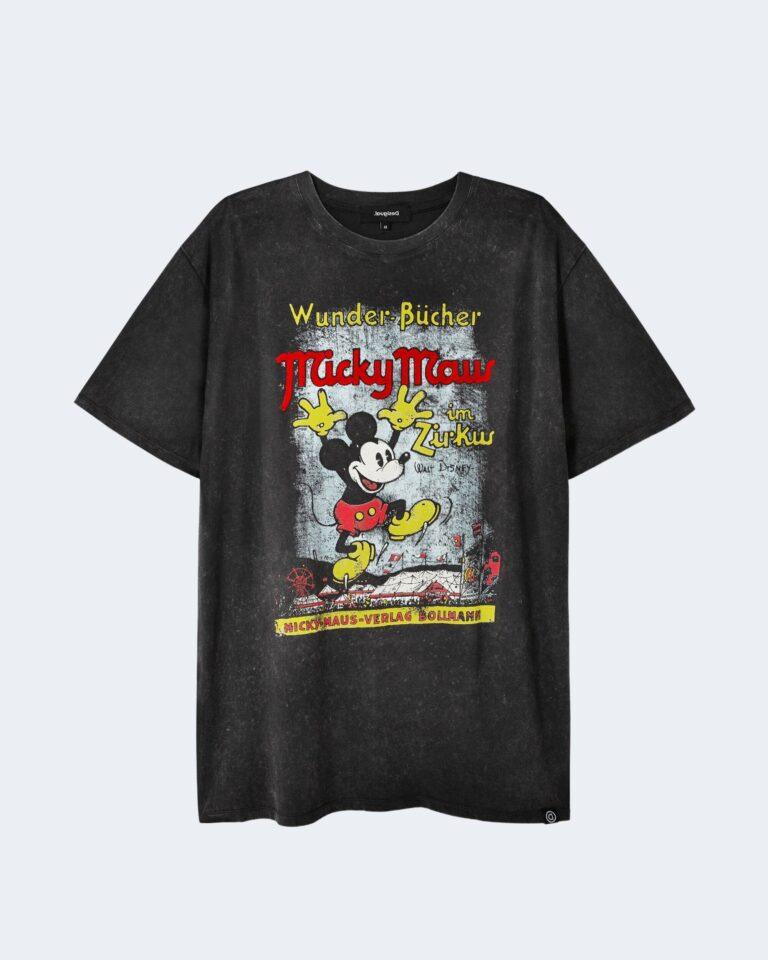 T-shirt Desigual TS VINTAGE MICKEY Grigio - Foto 4