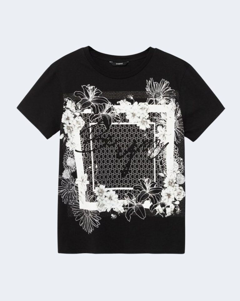 T-shirt Desigual Ts arizona Nero - Foto 4