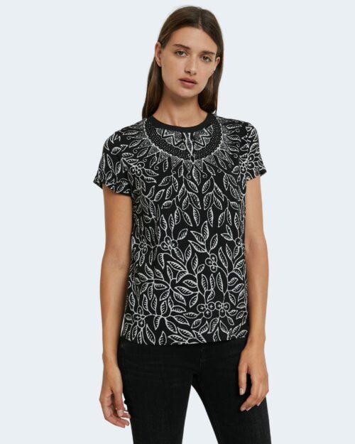 T-shirt Desigual TS DIEGUITA Nero - Foto 1