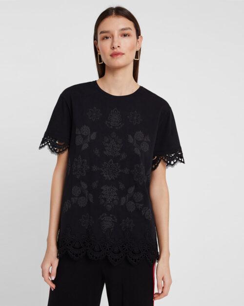 T-shirt Desigual Ts Gante Nero - Foto 1