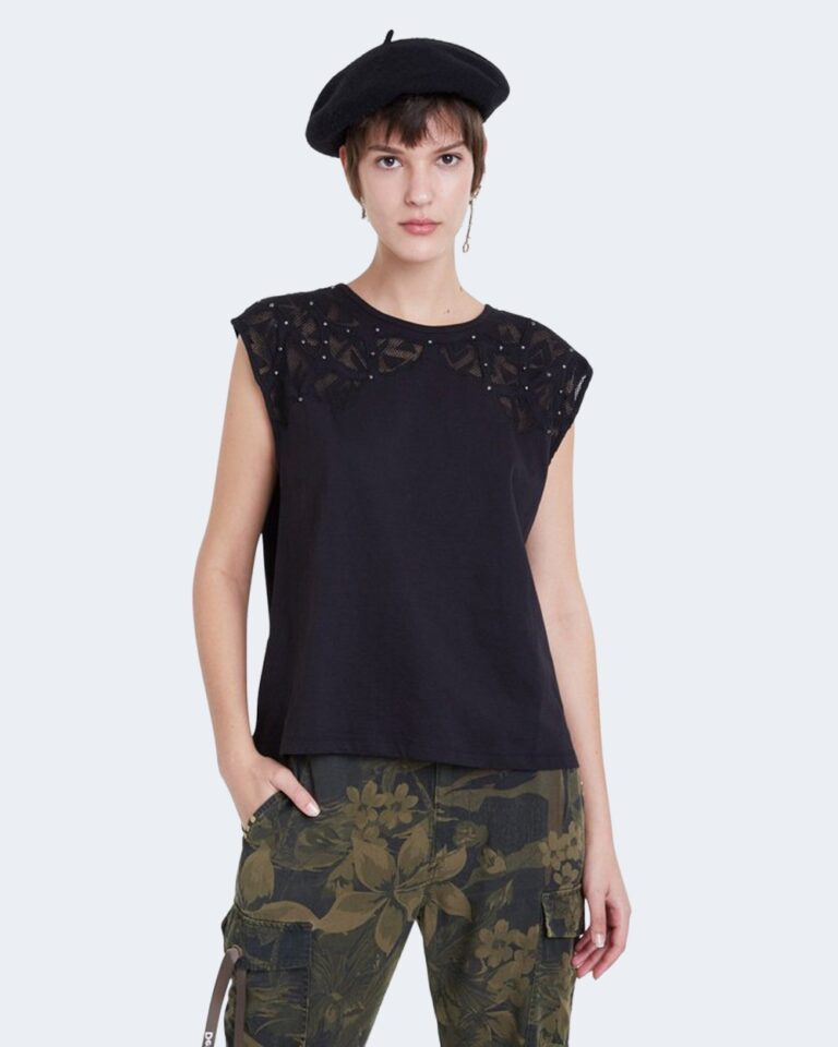 T-shirt Desigual TS LISBOA Nero - Foto 1