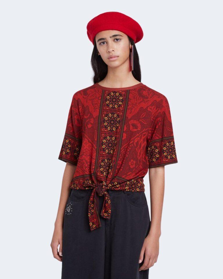 T-shirt Desigual Ts illinois Rosso - Foto 1