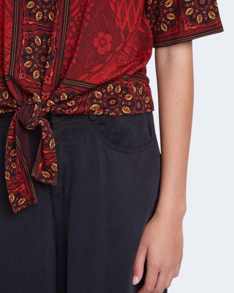 T-shirt Desigual Ts illinois Rosso - Foto 2