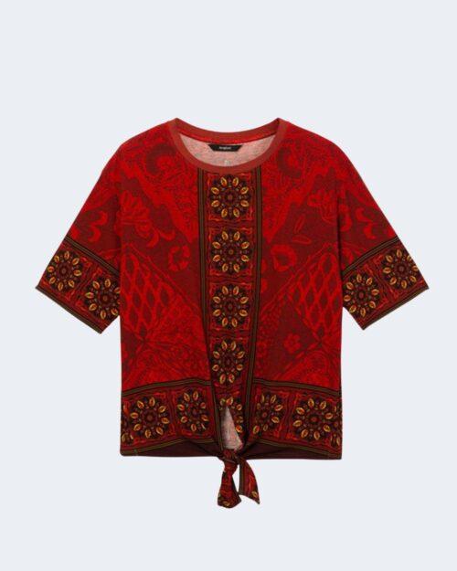 T-shirt Desigual Ts illinois Rosso - Foto 4