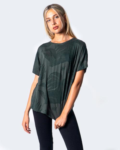 T-shirt Desigual T-SHIRT OVERSIZE DEVORE Verde - Foto 1