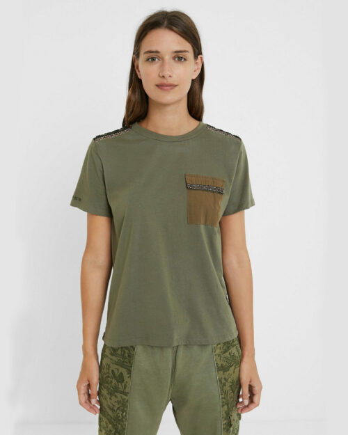 T-shirt Desigual TS NIZA Verde - Foto 1