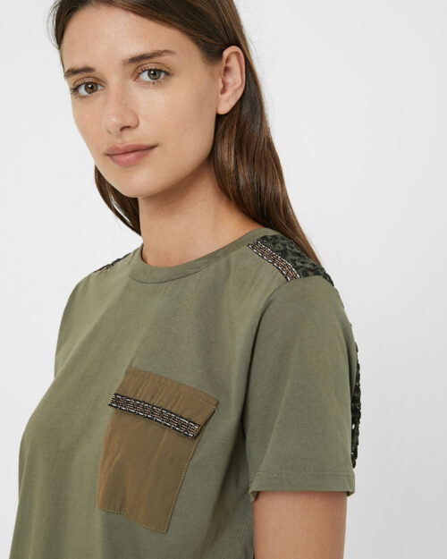 T-shirt Desigual TS NIZA Verde - Foto 2