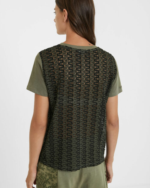 T-shirt Desigual TS NIZA Verde - Foto 3