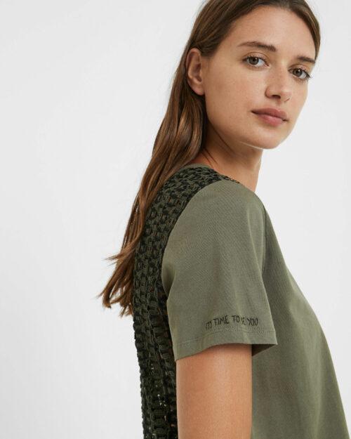 T-shirt Desigual TS NIZA Verde - Foto 4