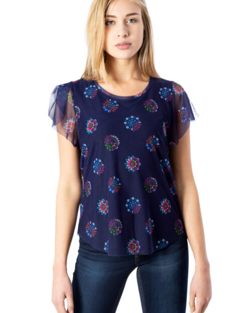 T-shirt Desigual Ts Varsovia Viola – 39926