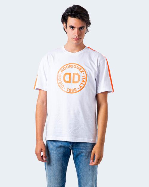 T-shirt Diego Rodriguez LOGO GOMMATO Bianco - Foto 1