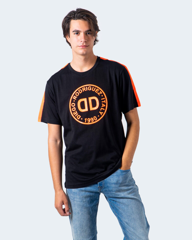 T-shirt Diego Rodriguez LOGO GOMMATO Nero - Foto 1