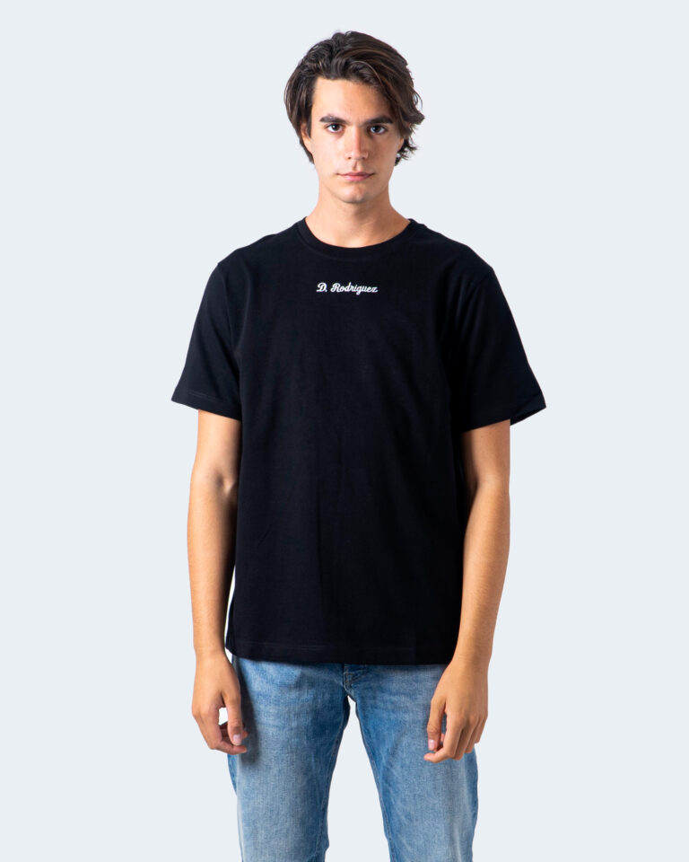T-shirt Diego Rodriguez RICAMO LOGO CORSIVO Nero - Foto 2