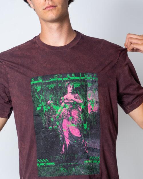 T-shirt Diesel JUST Bordeaux - Foto 4