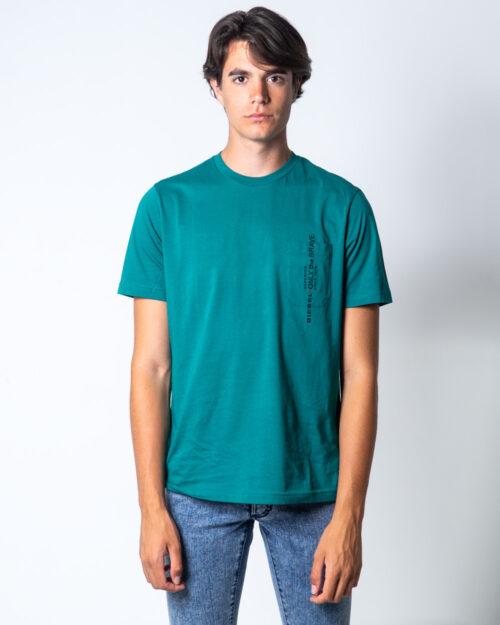T-shirt Diesel Girocollo con taschino Verde – 51490