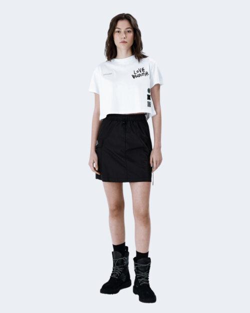 T-shirt Disclaimer LOGO RETRO DELFINI Bianco – 62496